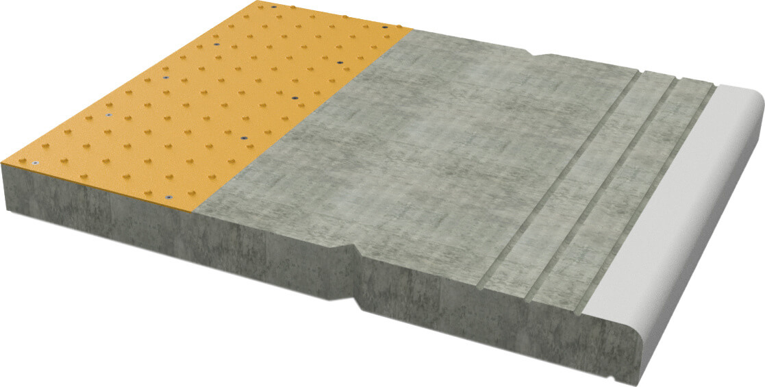 Copalite platform coper unit with integrated tactile surface